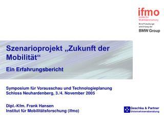 """Szenarioprojekt """"Zukunft der Mobilität"""""""