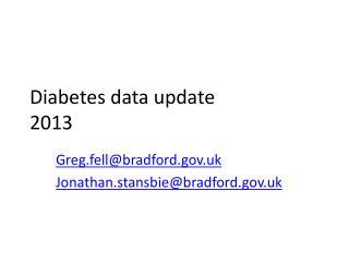 Diabetes data update 2013