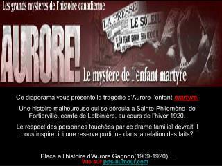 Aurore lenfant martyre - Slide 1