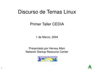 Discurso de Temas Linux