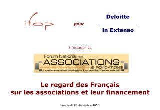 Le regard des Français sur les associations et leur financement