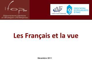 Les Français et la vue