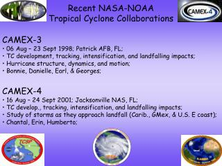 Recent NASA-NOAA  Tropical Cyclone Collaborations