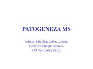 PATOGENEZA MS