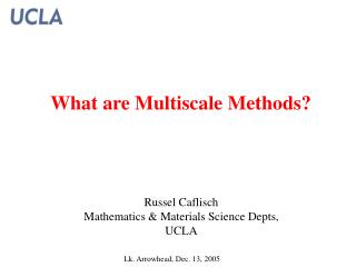 What are Multiscale Methods?
