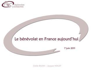 Le bénévolat en France aujourd'hui