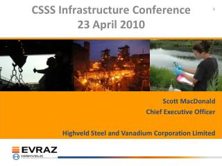 CSSS Infrastructure Conference 23 April 2010