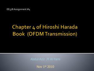Chapter 4 ofHiroshi Harada Book (OFDM Transmission)