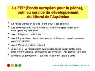 Le Fonds Européen pour la Pêche (FEP): ses objectifs