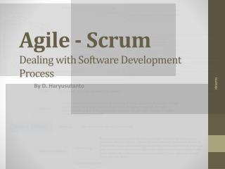 Agile - Scrum
