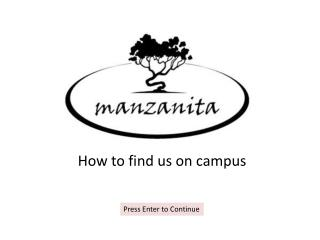 How to find us on campus