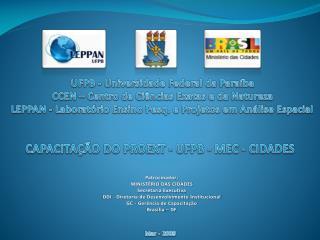 UFPB - Universidade Federal da Paraíba CCEN – Centro de Ciências Exatas e da Natureza