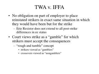 TWA v. IFFA