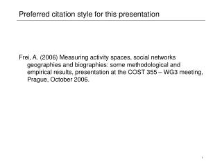 Preferred citation style for this presentation