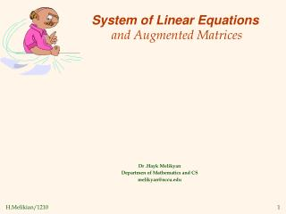 System of Linear Equations and Augmented Matrices