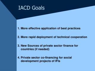 IACD Goals