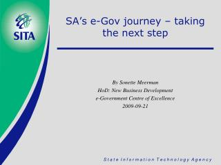 SA's e-Gov journey – taking the next step