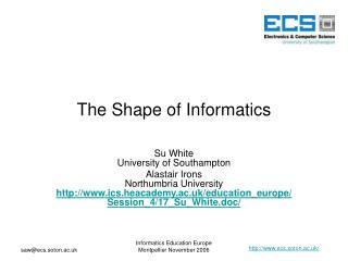 The Shape of Informatics