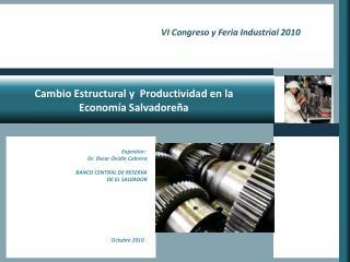 Cambio  Estructural y  Productividad en la Economía Salvadoreña