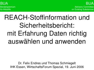 Dr. Felix Endres und Thomas Schmiegelt IHK Essen, WirtschaftsForum Spezial, 19. Juni 2006