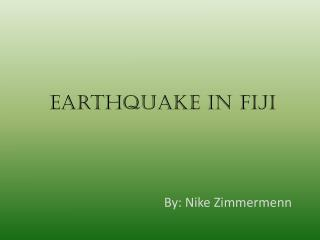 Earthquake in Fiji