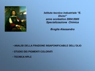 Istituto tecnico industriale  E. Divini  anno scolastico 2004