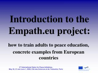 Introduction to the Empath.eu project: