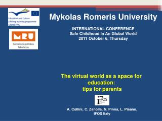 The virtual world as a space for education:  tips for parents