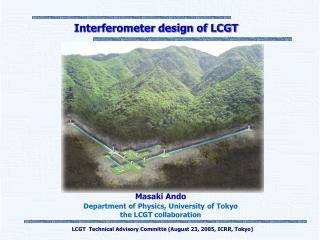 Interferometer design of LCGT