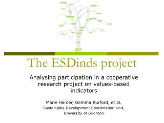 The ESDinds project