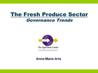 The Fresh Produce Sector Governance Trends