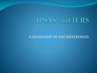IPSAS and IFRS