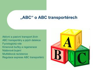 """ABC"" o ABC transportérech"