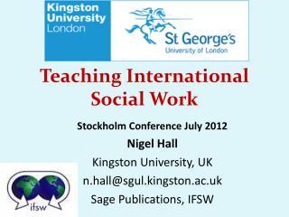 Teaching International Social Work