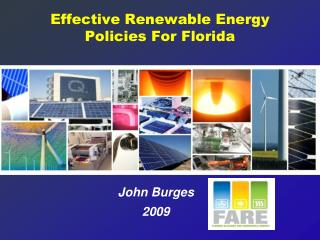 Effective Renewable Energy Policies For Florida