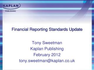 Financial Reporting Standards Update