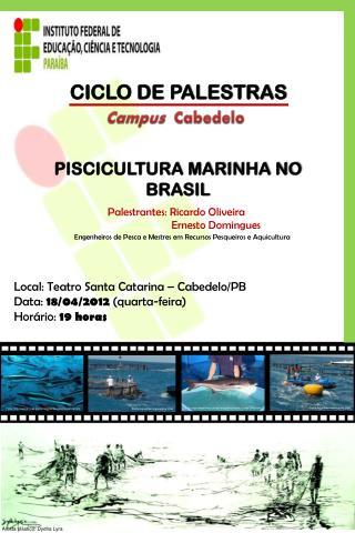 CICLO DE PALESTRAS