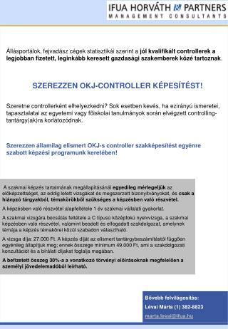 SZEREZZEN OKJ-CONTROLLER KÉPESÍTÉST!
