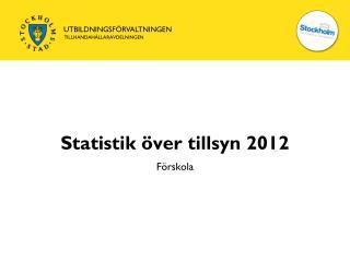 Statistik över tillsyn 2012