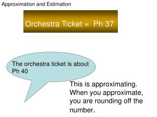 Orchestra Ticket =  Ph 37