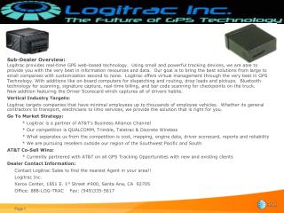 Logitrac increases employee and company productivity!
