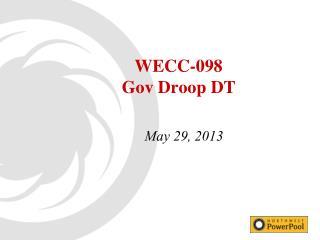 WECC-098 Gov  Droop DT