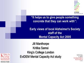 1 What is the Mental Capacity Act 2005 MCA