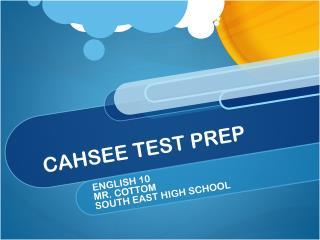 CAHSEE TEST PREP
