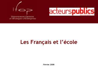 Les Français et l'école