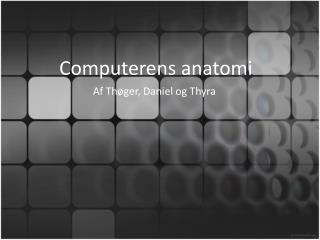 Computerens anatomi