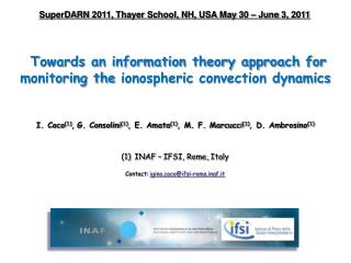 Towards an information theory approach for monitoring the  ionospheric  convection dynamics