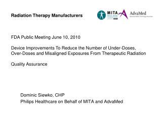 FDA Public Meeting June 10, 2010