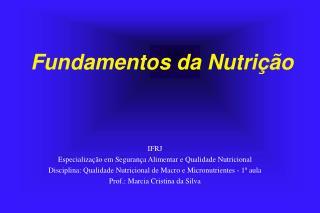 Fundamentos da Nutrição