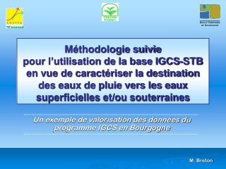 Un exemple de valorisation des données du programme IGCS en Bourgogne